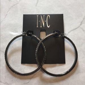 INC Crystal Hoop Earrings